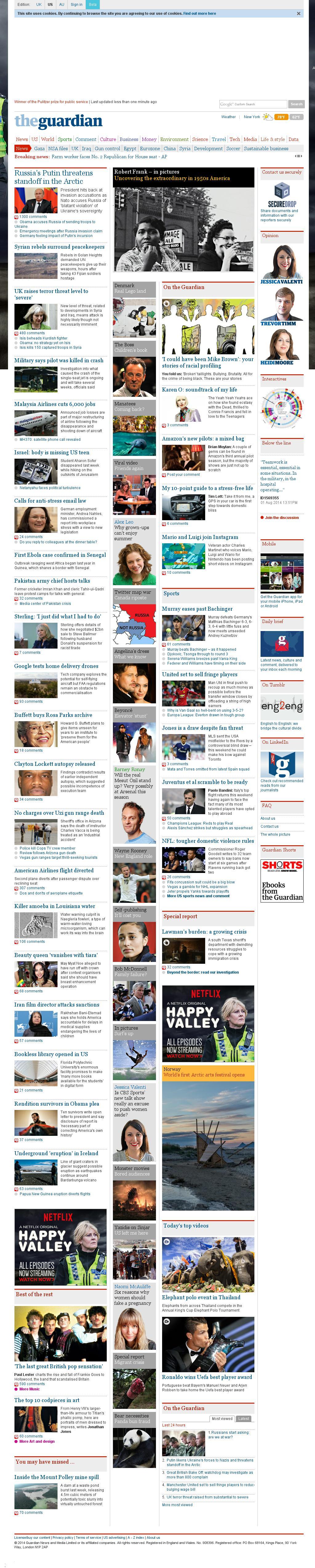 The Guardian at Friday Aug. 29, 2014, 3:07 p.m. UTC