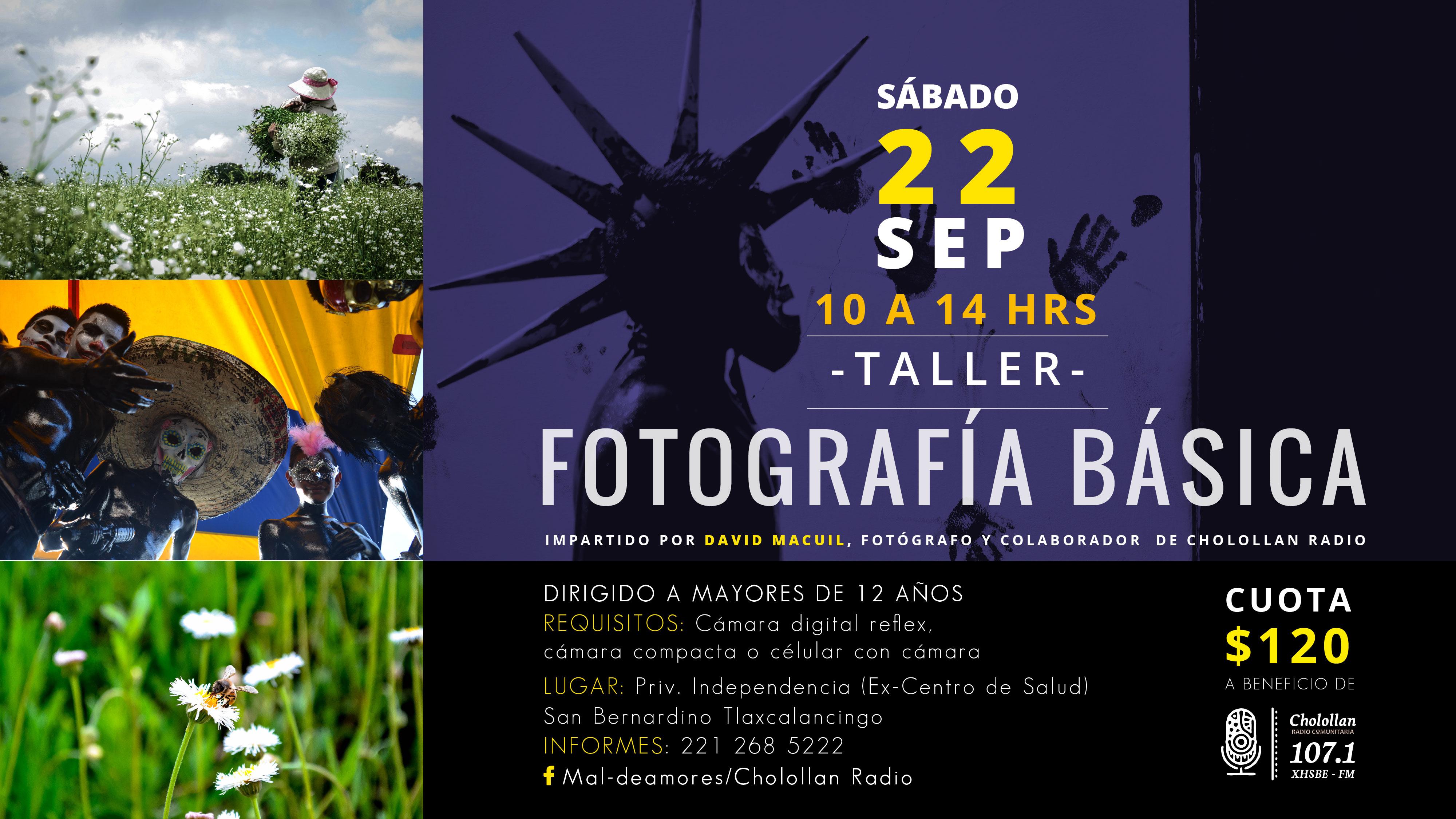 Taller de fotografía básica @ Cabina de Radio (Ex Centro de Salud).