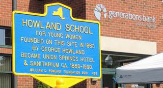 Historical Marker unveiled at Generations Bank in Union Springs