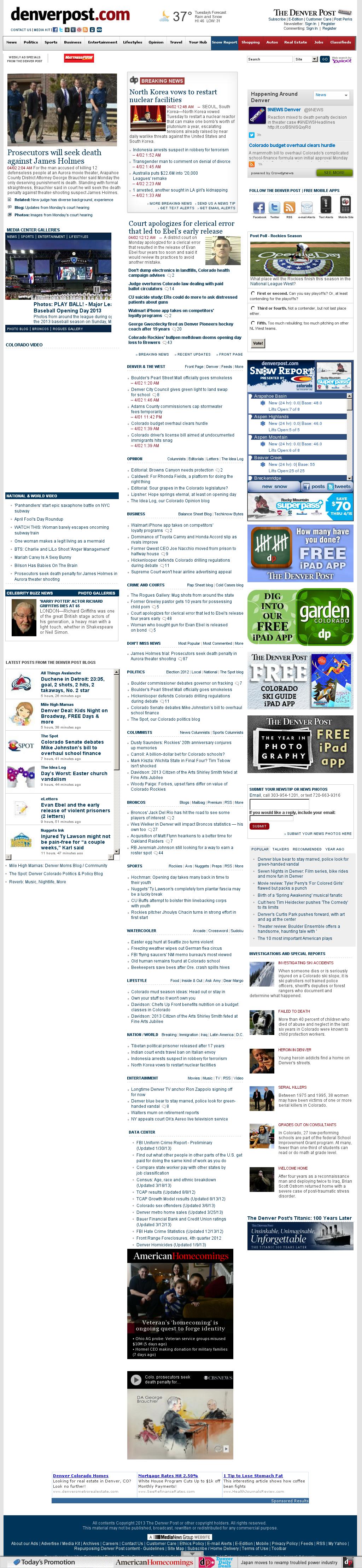 Denver Post at Tuesday April 2, 2013, 9:04 a.m. UTC