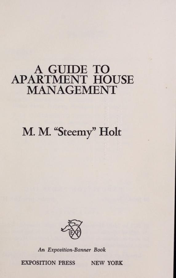 A guide to apartment house management by Mary Margaret Holt