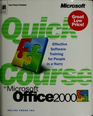 Quick course in Microsoft Office 2000 by Joyce Cox