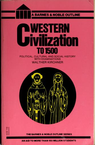 Cover of: Western Civilization to 1500 | Walther Kirchner